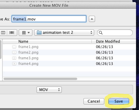 make movie from image sequence mac